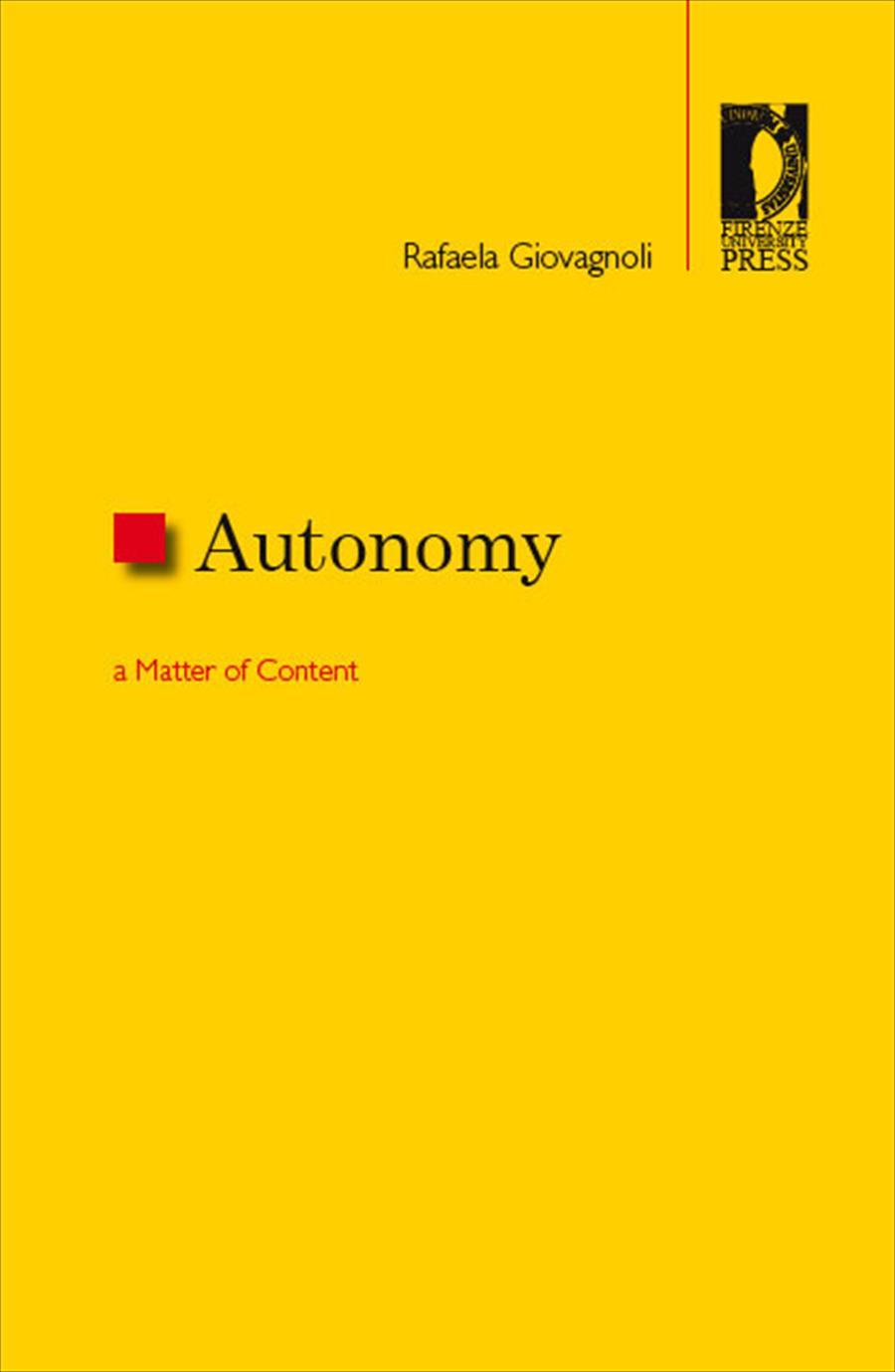 Autonomy: a Matter of Content
