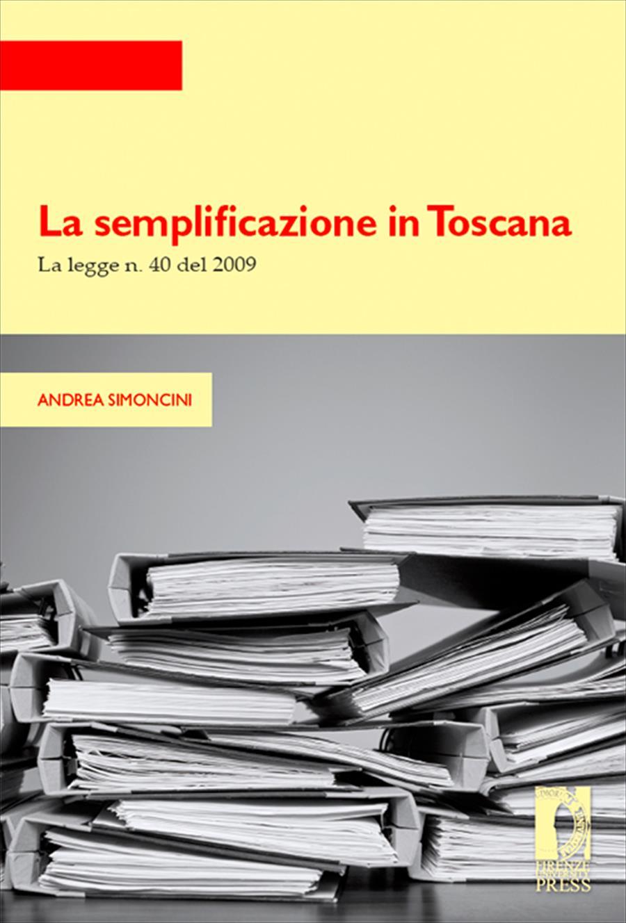 La semplificazione in Toscana