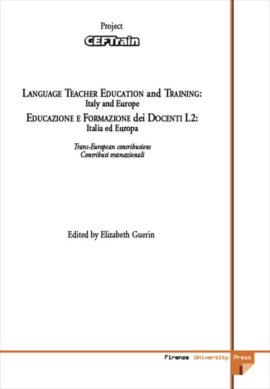 Language Teacher education and Training: Italy and Europe
