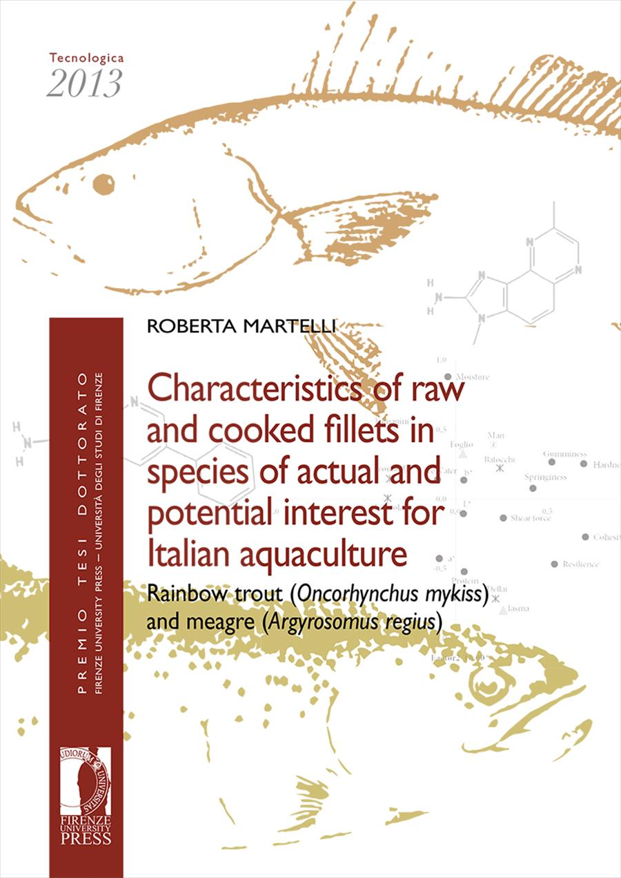 Characteristics of raw and cooked fillets in species of actual and potential interest for Italian aquaculture