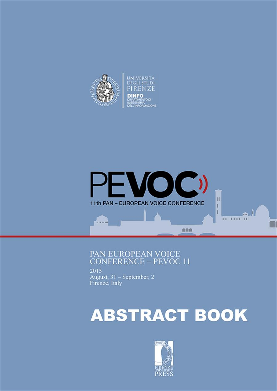 Pan European Voice Conference - PEVOC 11