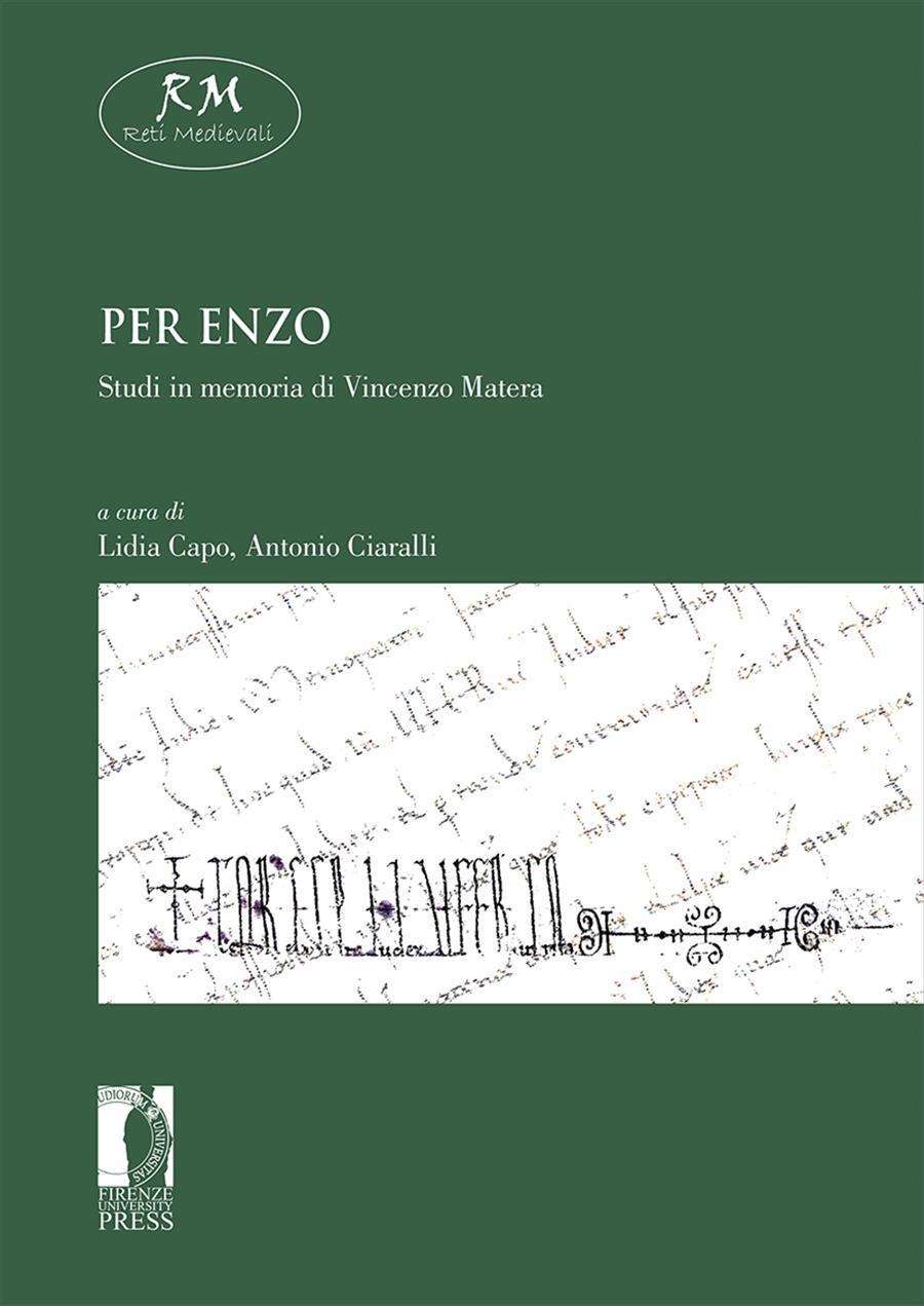 Per Enzo. Studi in memoria di Vincenzo Matera