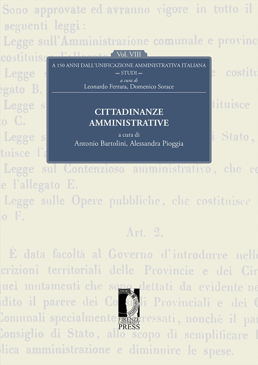 A 150 anni dall'unificazione amministrativa italiana. Vol. VIII