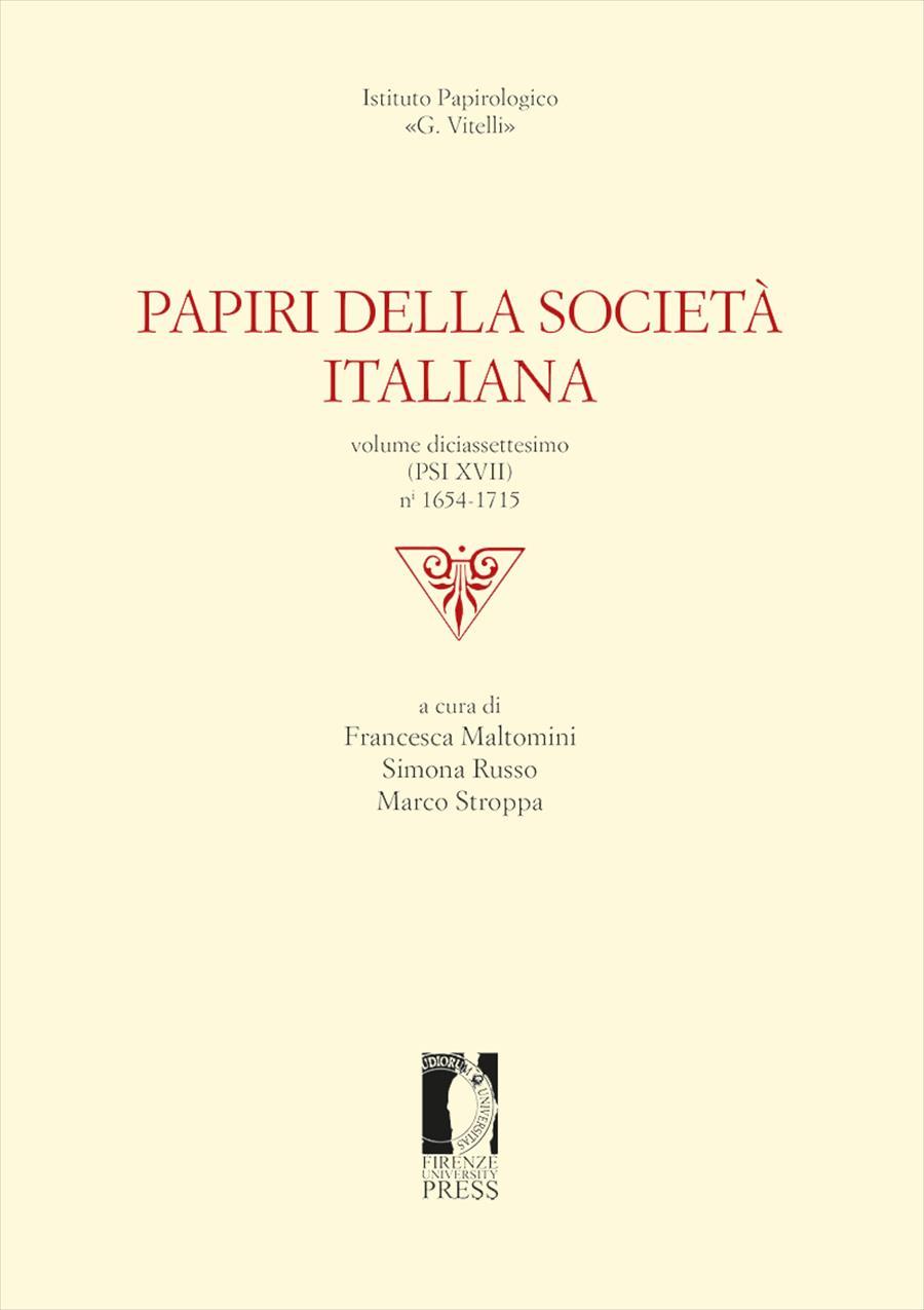 Papiri della Società Italiana. Vol. XVII
