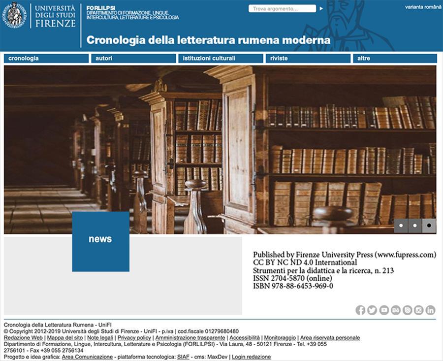 Cronologia della letteratura rumena moderna (1780-1914) - Cronologia literaturii române moderne (1780-1914)