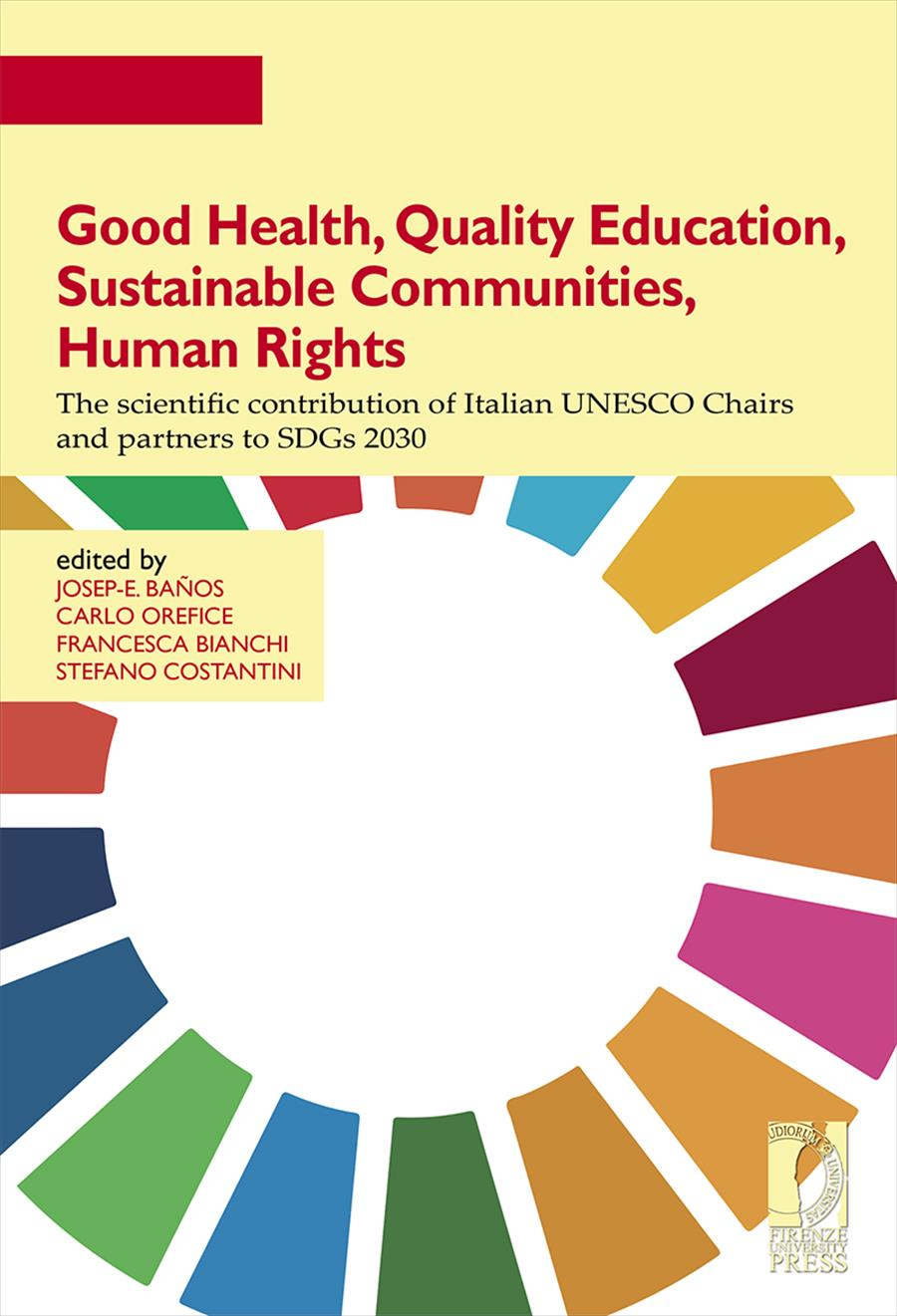 Good Health, Quality Education, Sustainable Communities, Human Rights