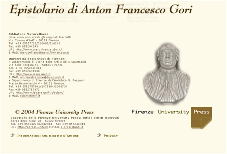 Epistolario di Anton Francesco Gori
