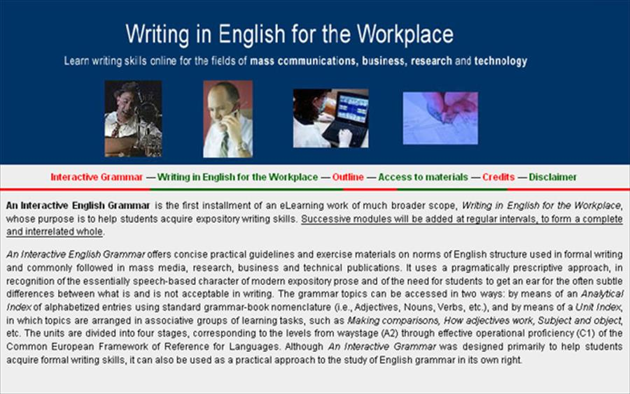 Writing in English for the Workplace
