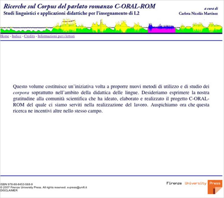Ricerche sul Corpus del parlato romanzo C-ORAL-ROM