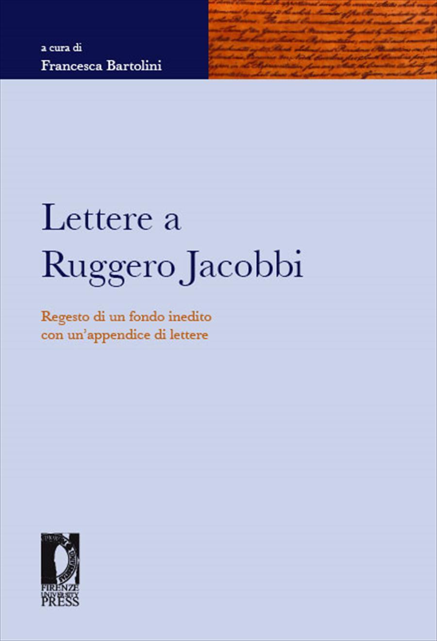 Lettere a Ruggero Jacobbi