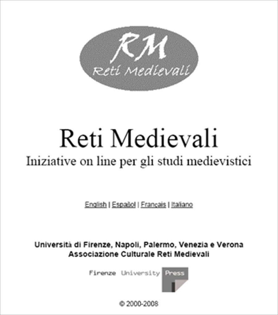 Reti Medievali. Iniziative on line per gli studi medievistici